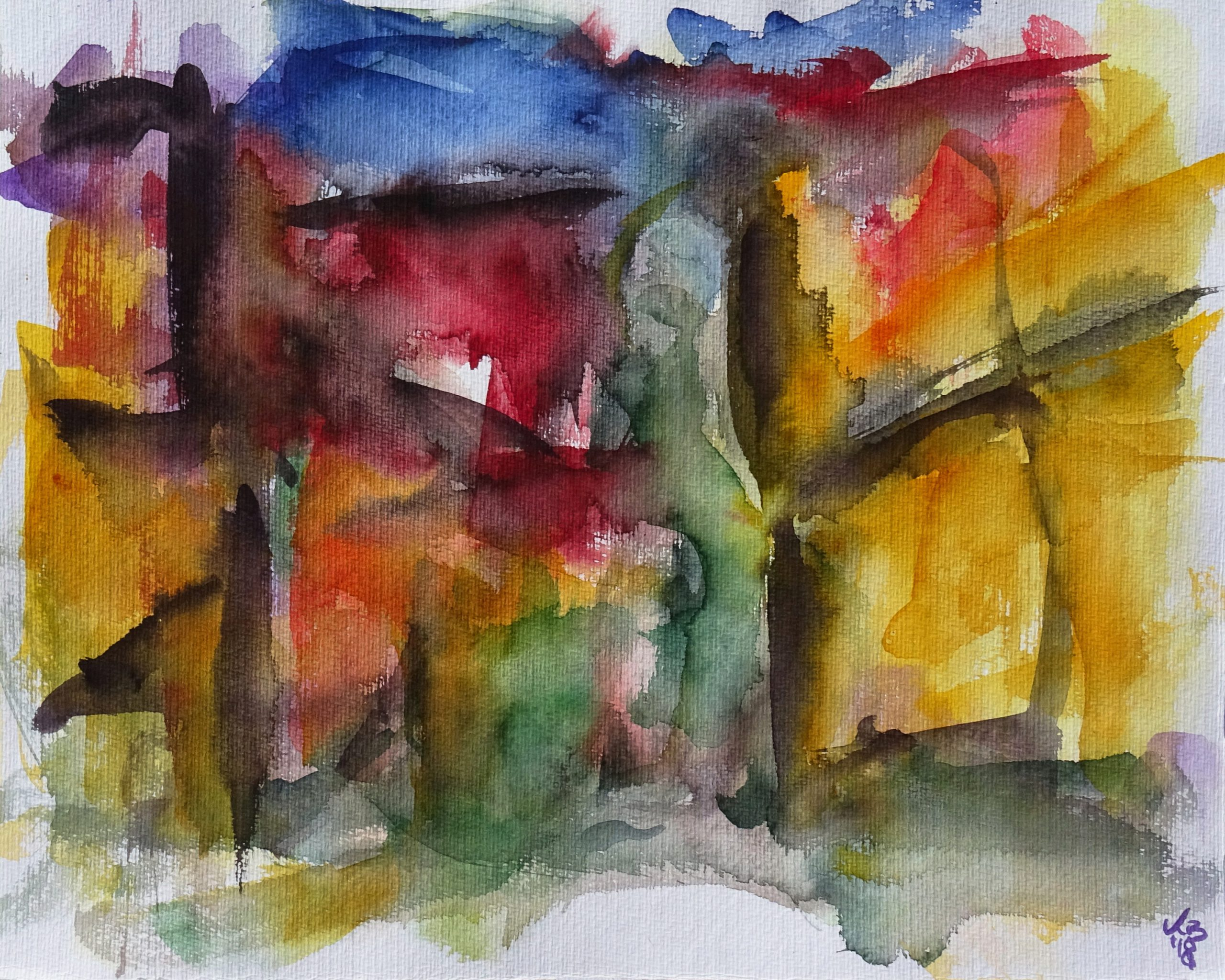Kreuzgasse, Watercolour 50 x 40 cm, © 2018 by Klaus Bölling