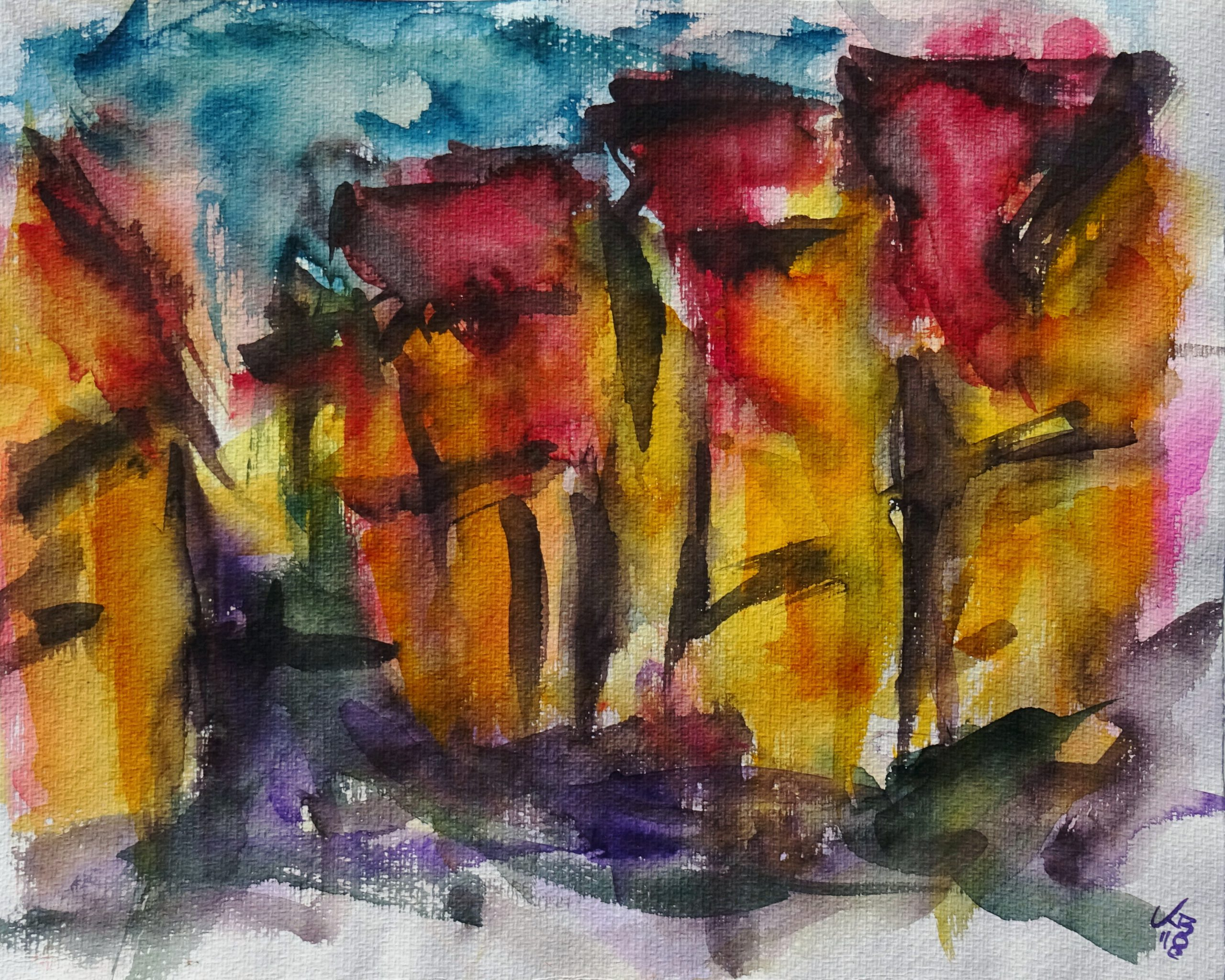 Marktgasse, Watercolour 50 x 40 cm, © 2018 by Klaus Bölling