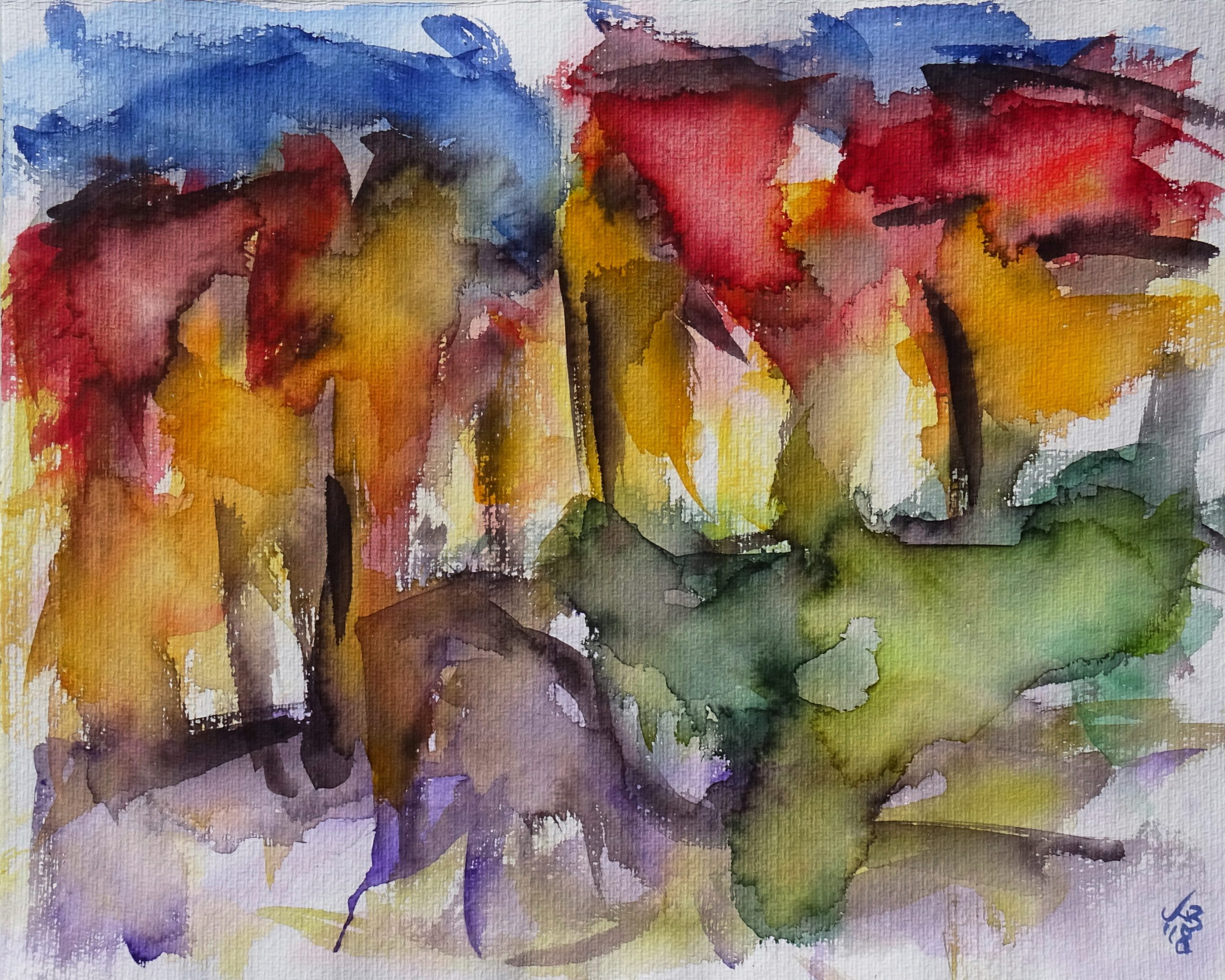 Kirchgasse, Watercolour 50 x 40 cm, © 2018 by Klaus Bölling