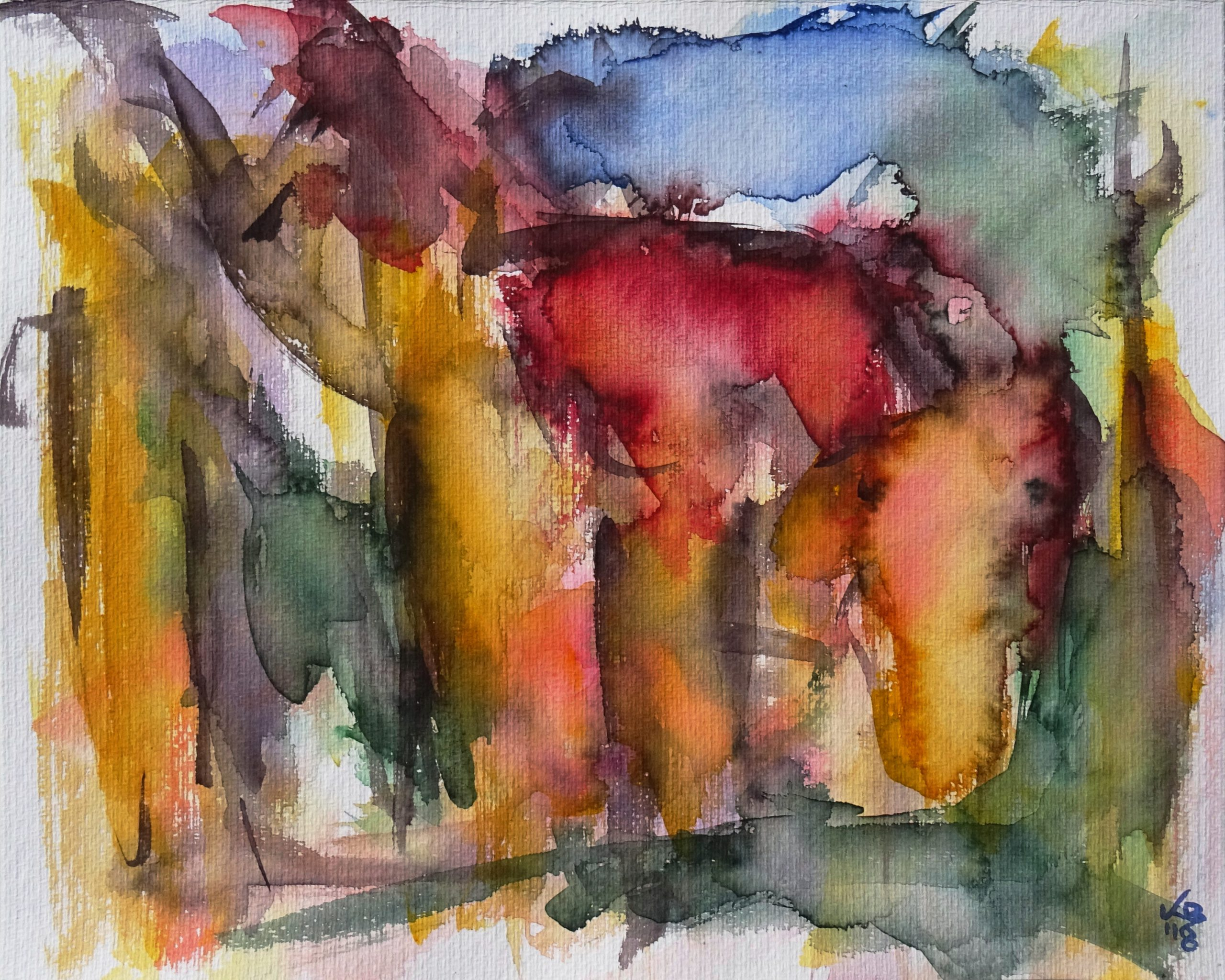 Salzgasse, Watercolour 50 x 40 cm, © 2018 by Klaus Bölling