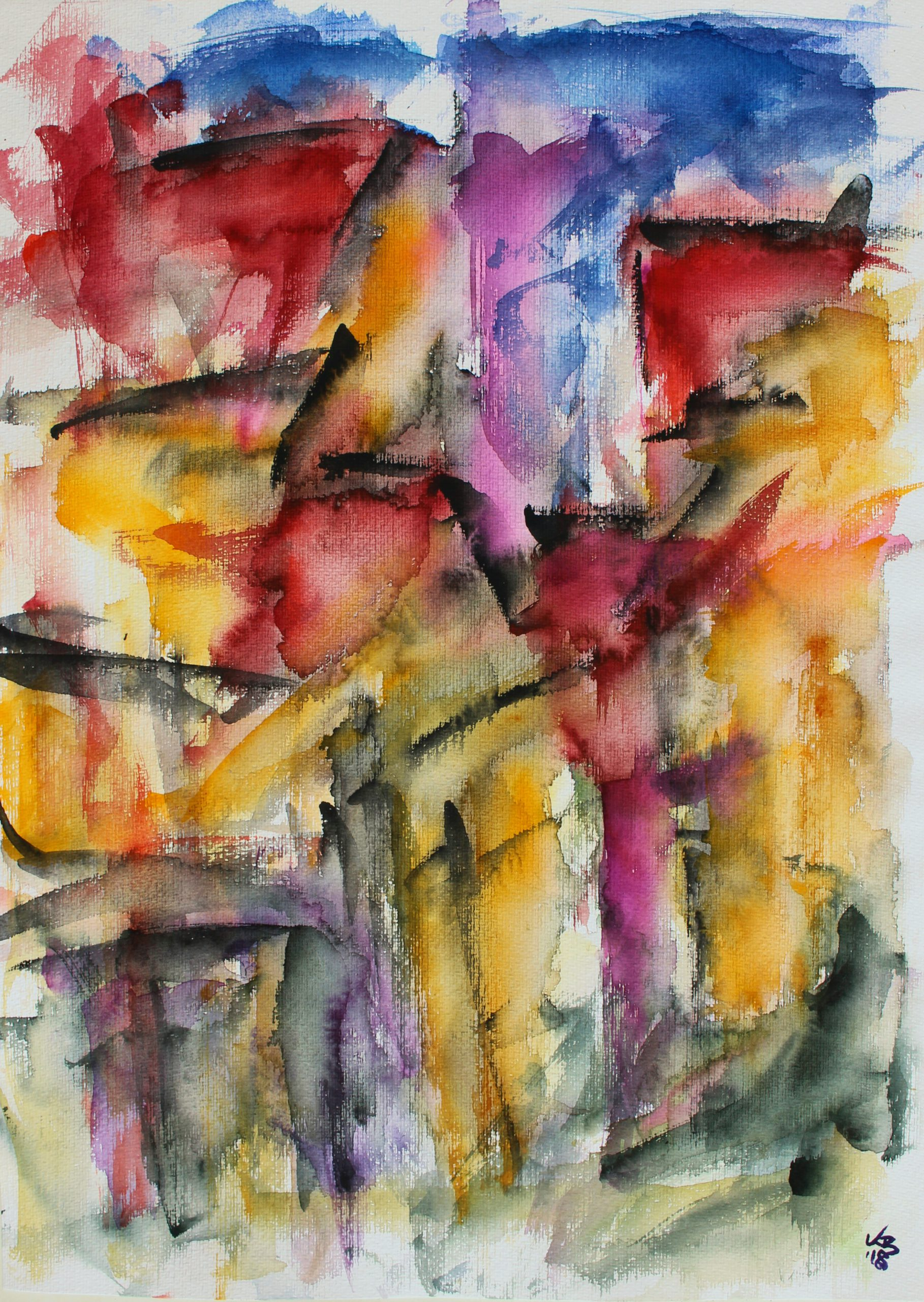 changing places II, Homberg, Westheimer Straße, Watercolour 50 x 70 cm, © 2018 by Klaus Bölling