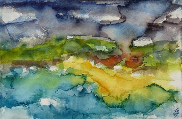 Huisinis, Harris, Watercolour 50 x 32,5 cm, © 2019 by Klaus Bölling