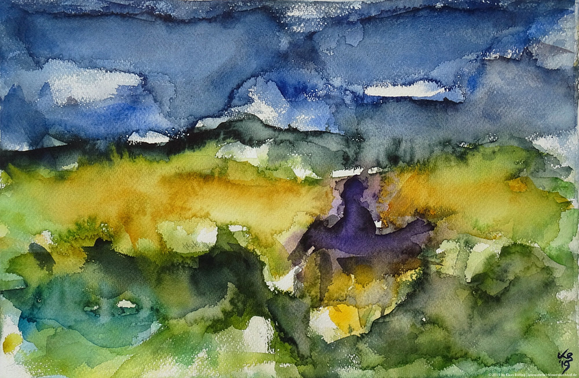 Orkney, Quoyloo, Orkney Brewery, Watercolour 50 x 32,5 cm, © 2019 by Klaus Bölling