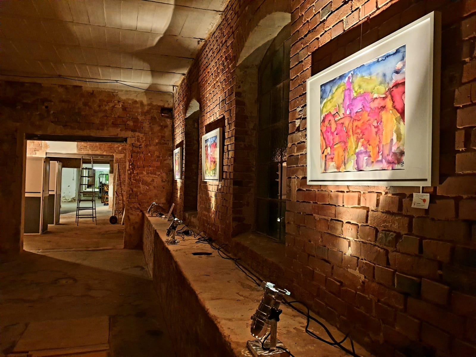 Kunst in der Alten Möbelfabrik | Aquarelle von Klaus Bölling © 2020 by Claudia Brandau