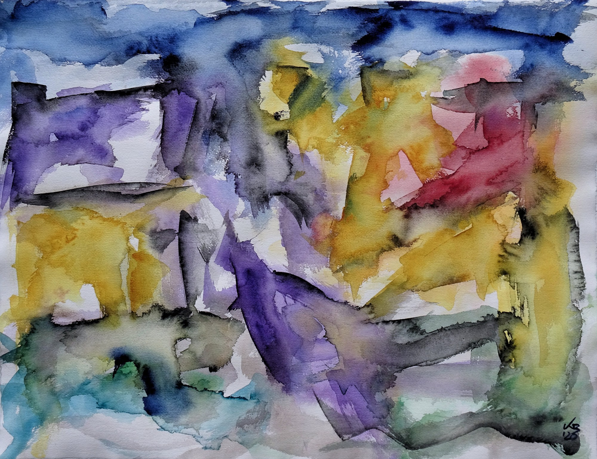 Stromness, Graham Place, Watercolour 65 x 50 cm, © 2020 by Klaus Bölling