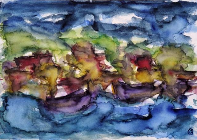 Stromness, Orkney, Watercolour 70 x 50 cm, © 2020 by Klaus Bölling