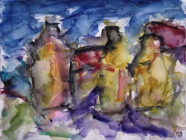 Orkney | vier Aquarelle