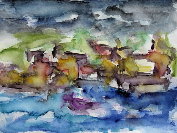Stromness, Orkney 2, Watercolour 70 x 50 cm