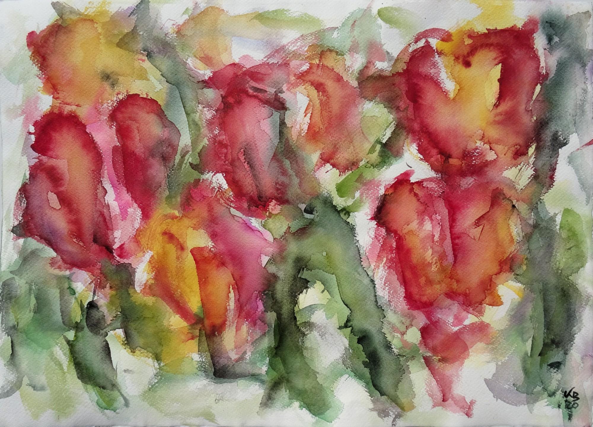 Frühling I, Watercolour 70 x 50 cm, © 2020 by Klaus Bölling
