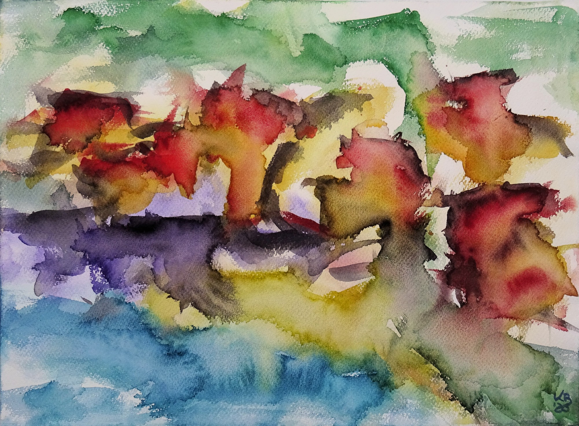 Port Isaac II, Watercolour 53 x 39 cm, © 2020 by Klaus Bölling
