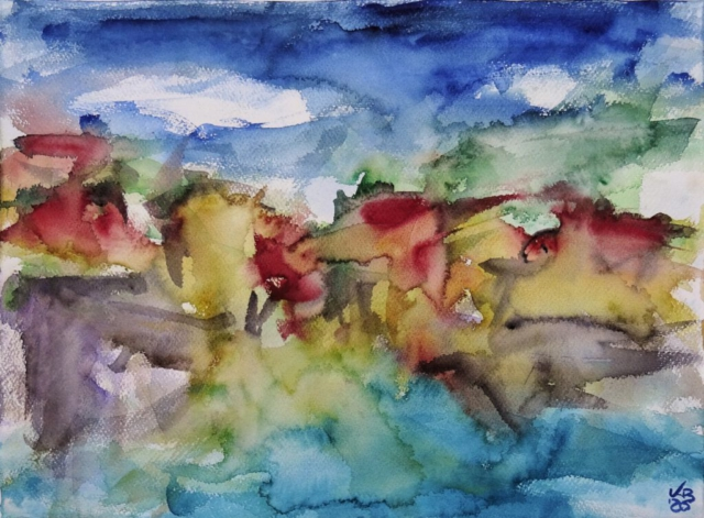 Port Isaac IV, Watercolour 53 x 39 cm, © 2020 by Klaus Bölling