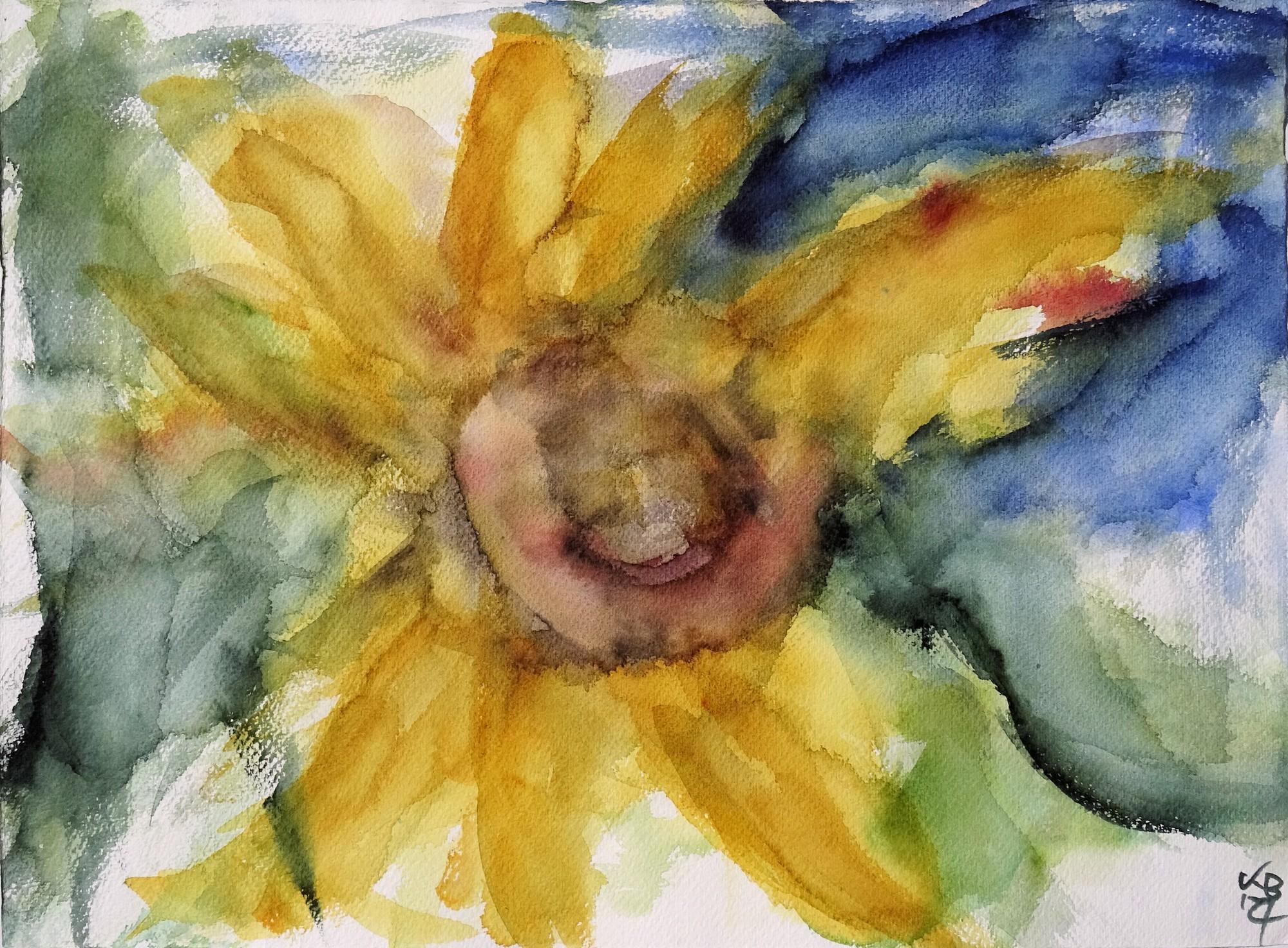 Sonnenblumen I, Watercolour 53 x 39 cm, © 2021 by Klaus Bölling