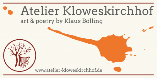 Atelier Kloweskirchhof, Logo art and poetry